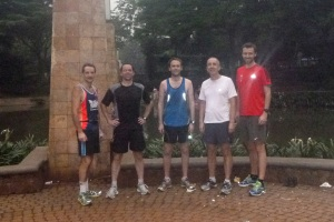 My (not very local) Indonesian running group!