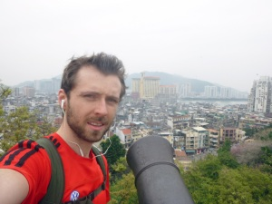 Pointing a canon towards China (across the water)