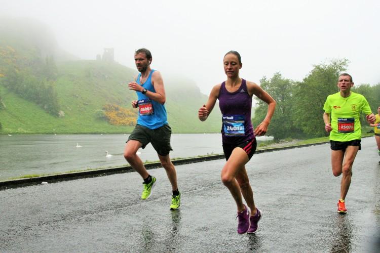 Edinburgh Half Arthurs Seat Rain
