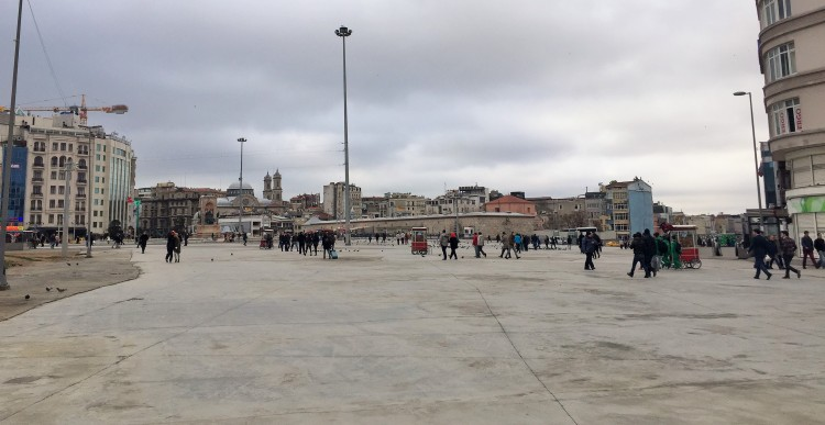 A very empty Taksim Square