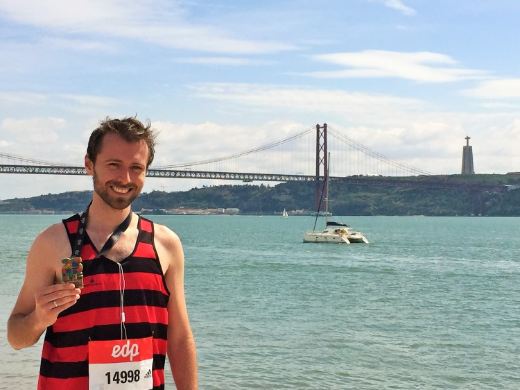 Lisbon Half Marathon Finish