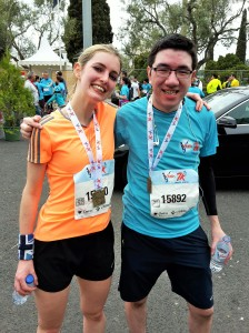 Pippa (1st Brit!) and Ed  at  the end of the weekend's other race!