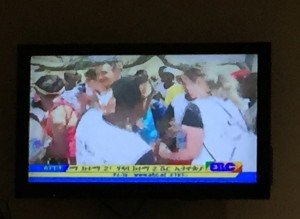 Pippa reaching VIP A-list levels on Ethiopian TV