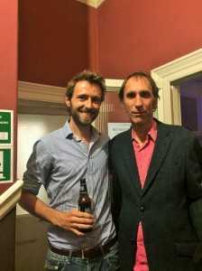 With Will Self (who I think enjoyed it more than he enjoys having his photo taken)