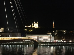 The Saone, Fourviere and...the Eiffel Tower?