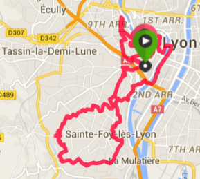 Lyon Urban Trail Map