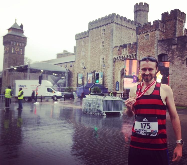 Cardiff World Half Marathon Championships Finish Medal