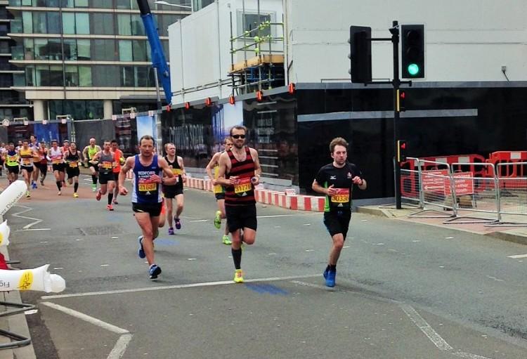 London Marathon Canary Wharf