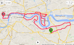 London Marathon Map