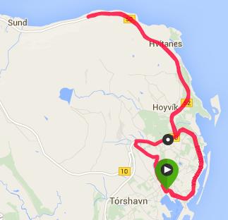 Torshavn Half Marathon Map