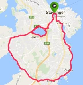 Stavanger Half Marathon Map