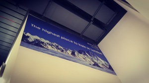The Altitude Centre...where even the signs are bloody high up